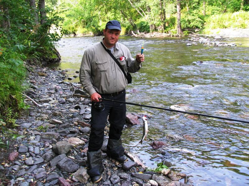 ловля рыбы на сахалине видео