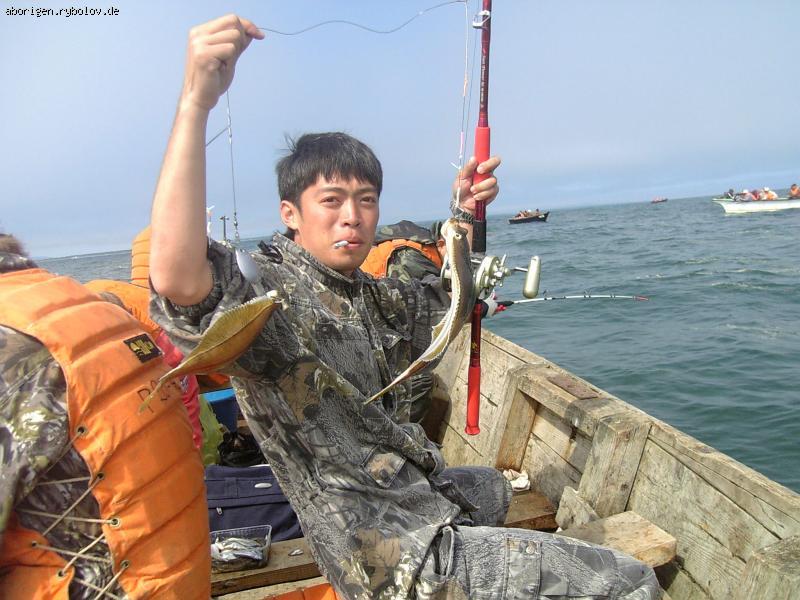 ловли рыбы камбала